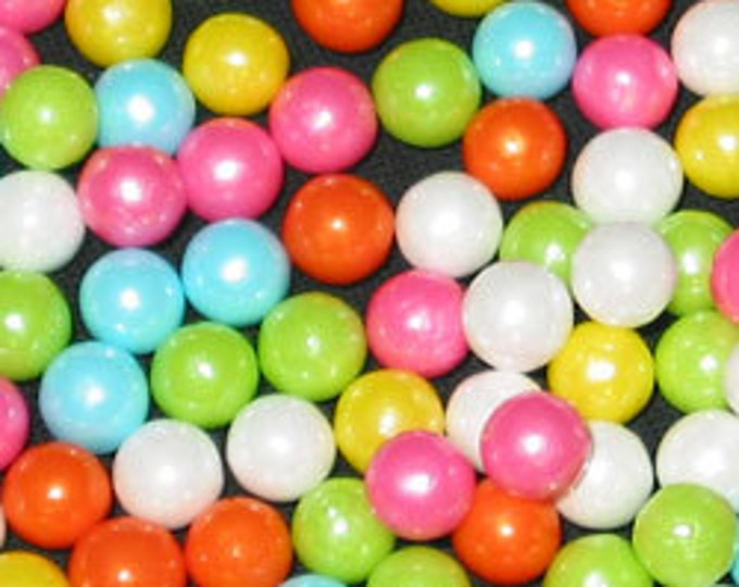 Rainbow Pearl Candy Beads Edible Cupcake Decorations (2 ounces)