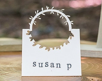 SETS OF 24 PIECES - Wreath Wedding Place cards