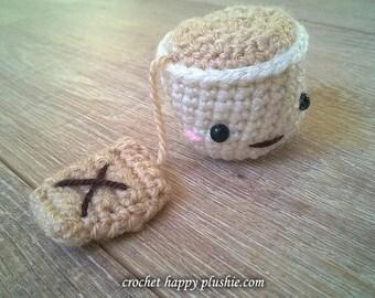 Kawaii Amigurumi Teacup Pattern  / crochet amigurumi kids toy doll / tea / cup