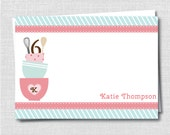 Baking Themed Custom Notecard for Kids - Bake Shop Birthday Party Thank You - Digital Design or Printed Notecards - FREE SHIPPING