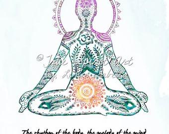 Yoga - Art Print, Lotus