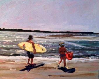 "Coastal Art, ""Afternoon Clamming"""