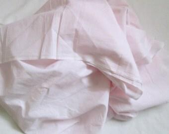 Vintage Pink Cotton Batiste Sewing Fabric 44 x 50