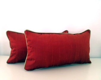 small turquoise throw pillow silk in by cushionsandmore on