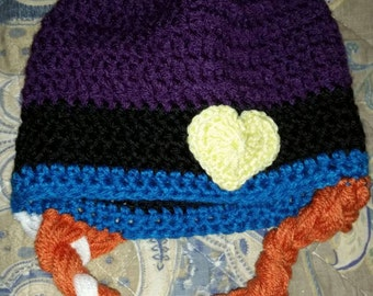 Frozen style Anna or Elsa hat size toddler to adult