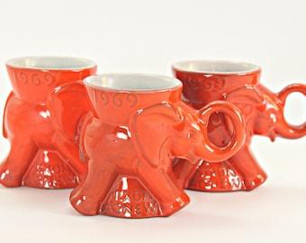 1969 Frankoma GOP Mug, 1969 Frankoma Nixon Agnew Mug, Frankoma GOP Mug, Frankoma Political Mug, Frankoma 1969 Red GOP Mug, Frankoma Red Mug