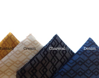 Pocket Square - Intertwining Chevron - Mix It Up Collection