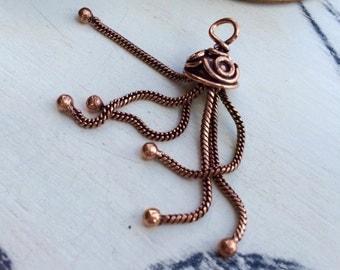 Chain tassel old copper tone 48 mm x 1 pcs