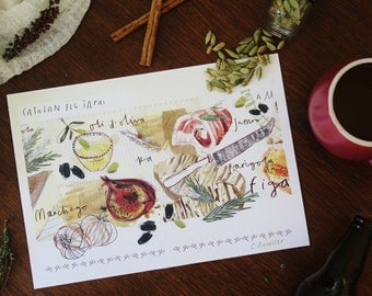 Cataln Fig Tapas, Kitchen Print