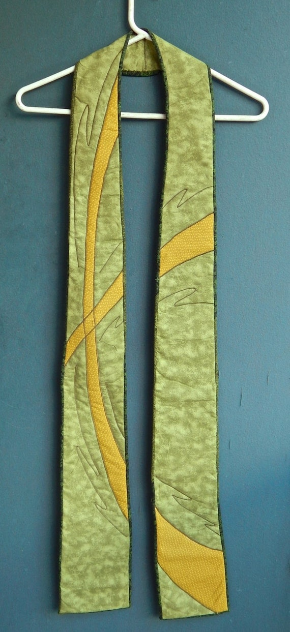Quilted Clergy Stole Green By Stonesoupimages On Etsy