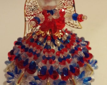 Beaded Patriotic Angel