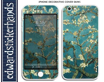 iPhone Decorative Cover Skin - Van Gogh Blossoming Almond Tree Pattern!
