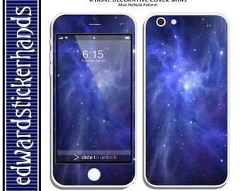 iPhone Decorative Cover Skin- Blue Nebula Pattern!