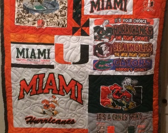 Any Size T-Shirt Quilt (custom made t-shirt or photo quilt or memory quilt (this is a deposit see description)
