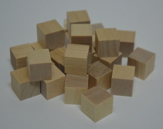 1/2 de blocs en bois massif lot de 25 inachevé