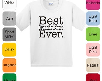 Best Granddaughter Ever Youth T-Shirt 2000B - FA-199