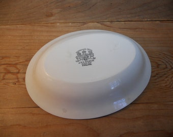 Antique White Ironstone Bowl - J. & G. Meakin