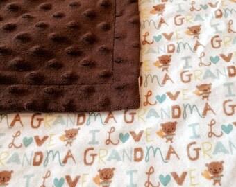 I Love Grandma Blanket