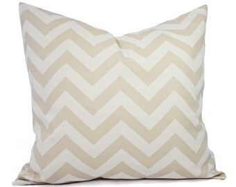 Two Chevron Decorative Pillow Covers - White and Cream Pillow Covers - Rustic Pillows - Natural Pillow Cover - Beige Pillow Cover