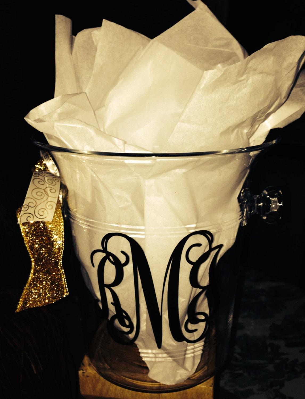 personalized acrylic champagne ice bucket  perfect ice bucket
