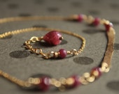 d e s e o ~ ruby | 14k gold fill necklace