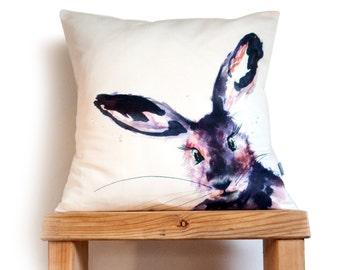 Inky Hare Cushion