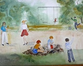 Playground Watercolor Original Work
