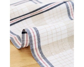 laminated cotton Fabrics waterproof fabric by the yard oilcloth big tartan check