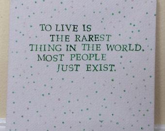 Oscar Wilde Quote Mini-Canvas