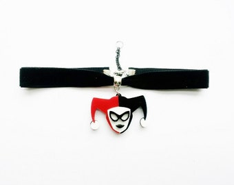 Harley Quinn collar necklace