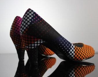 Pump  African Fabric