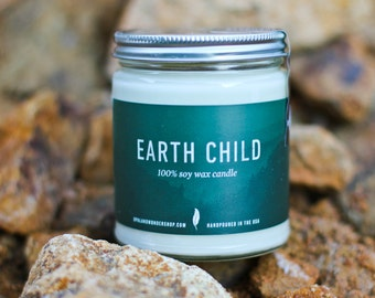 Eco Friendly Candle - Earth Child- 8 oz. Natural Soy Candle