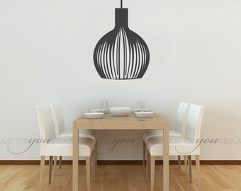 Chandelier Wall Decal - Living Room Wall Decal - Dining Room Wall Decal - Kitchen Wall Decal - Custom Wall Decal - 13-0013