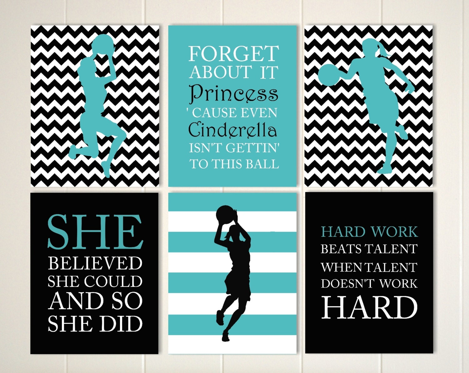 Inspirational quote art girls quotes wall art basketball