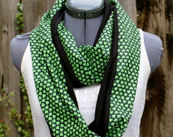 St. Patrick's Day Everyone is Irish Shamrock Infinity Scarf