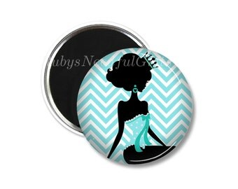 Magnet,  2.25 inch Magnet,  Birthday gift, fridge magnet,  Gifts under a Fiver,  Button Magnet, Silhouette.