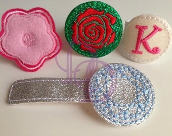 Ring Tabs Embroidery Machine In The Hoop Design