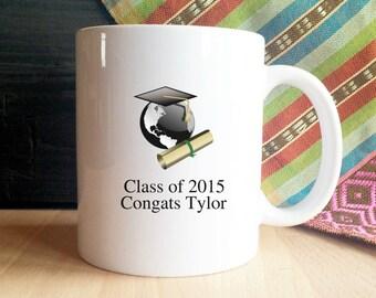 Custom Graduation Mug, Graduate, Class of...