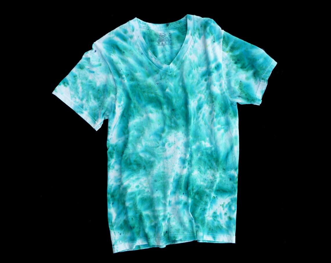 Tie dye t shirt adult s v neck for Custom tie dye t shirts