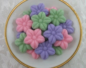 28 Wild Rose shaped sugar cubes for tea party, bridal shower, coffee, tea, wedding, shower, party, flower, hostess gift