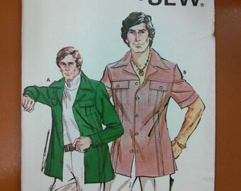 Kwik Sew 784 Men's Jacket or Shirt Sewing Pattern Size 42-44-46
