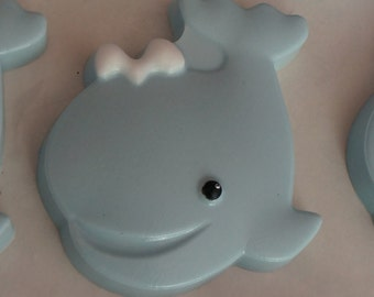10 WHALE Soap Favors  - Newborn Baby, Baby Shower, Baptism