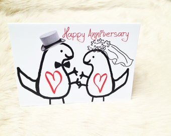 Dinosaur anniversary card. Anniversary card. Dinosaur card