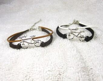 10% discount/fashion bracelet/cord/braided/multi-strand/bike/coffee / brown/black/ white/cheap/affordable/discount/