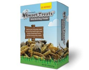 Sweet-Treats [4-pack] Premium Wild Bird Bug Treats with Mealworms & Crickets