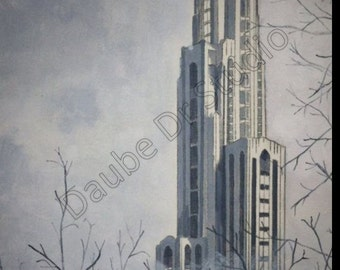 University of Pittsburgh Cathedral of Learning - Giclee
