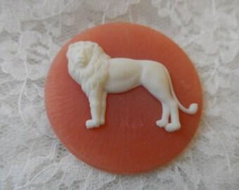 Large resin lion cabochon,43mm,1pc-CAB234