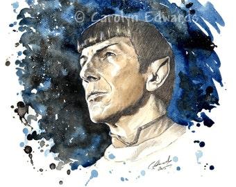 Star Trek - SPOCK A4 Art Print (29.7 x 21cm)