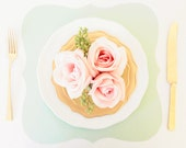 Mint Baroque Paper Placemats - Pack of 10