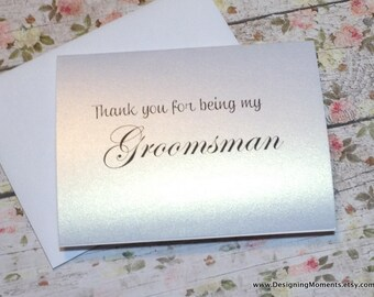 Thank You For Being My Groomsman, Groomsman Thank You Card, Wedding Thank You Card, Thank You Groomsmen, Best Man Card - SHIMMER
